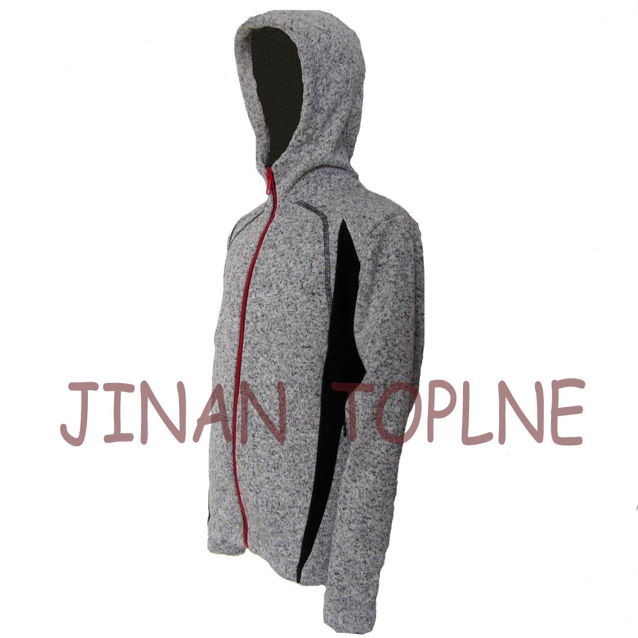 Women Long Zipper Cationic Hoody Microfleece Jacket