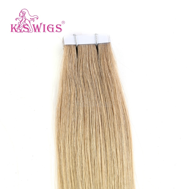 K. S Wigs New Virgin Remy Hair European Tape Hair
