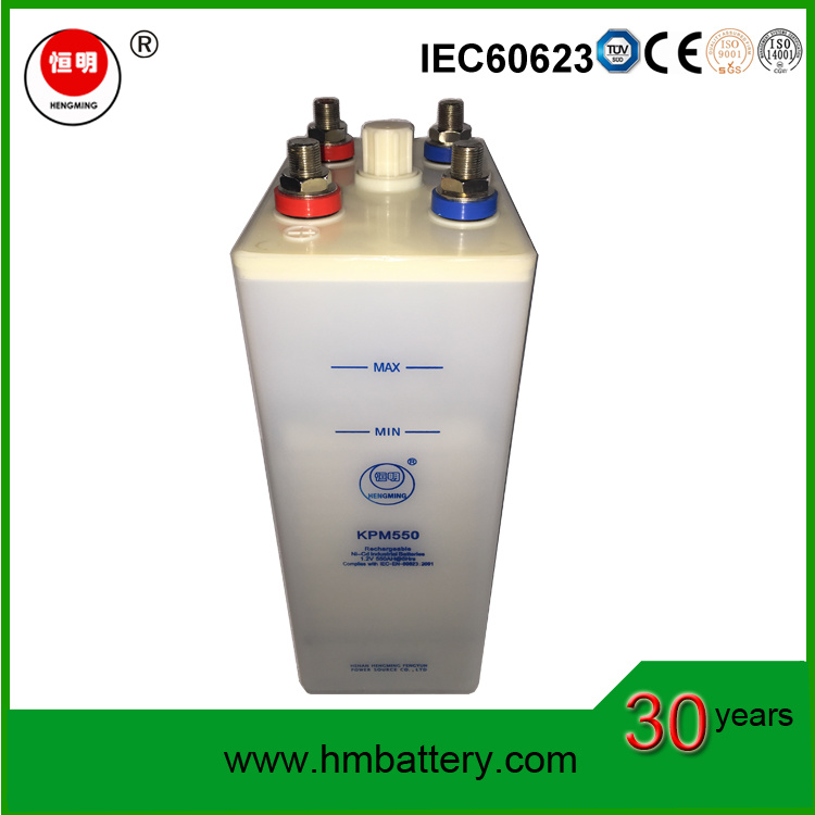 Industrial Long Service Life Battery/ Ni-CD Battery (power battery) Kpm550 for Back up Power