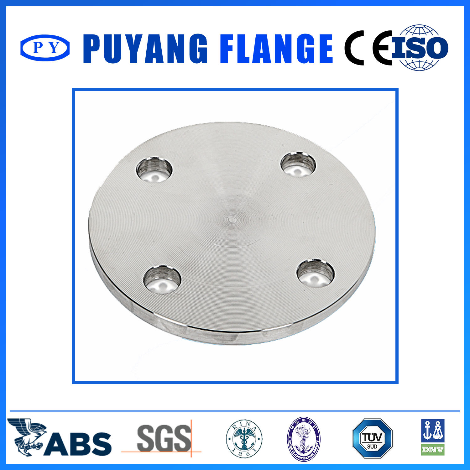 DIN Standard Stainless Steel Type05 Blind Flange (PY00103)