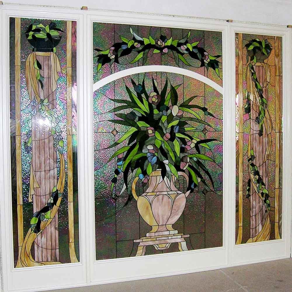 Modern Background Window Film Design Stained Glass Mosaic Pattern