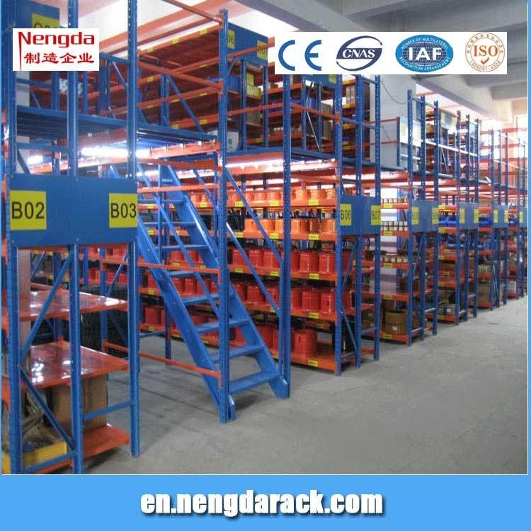 Mezzanine Rack with Floors Attic Shelves