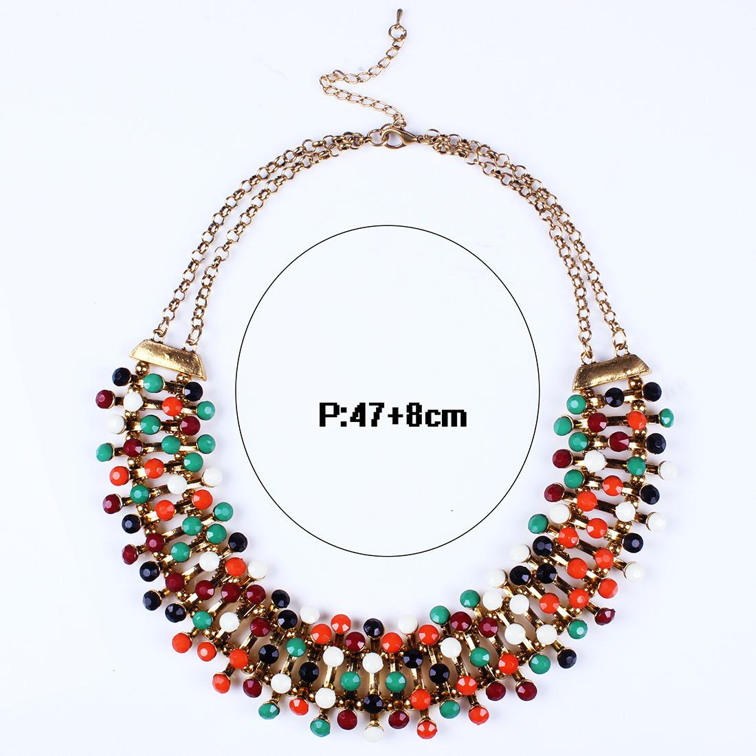 Fashion Designer Colorful Acrylic Statement Choker Necklace Jewelry