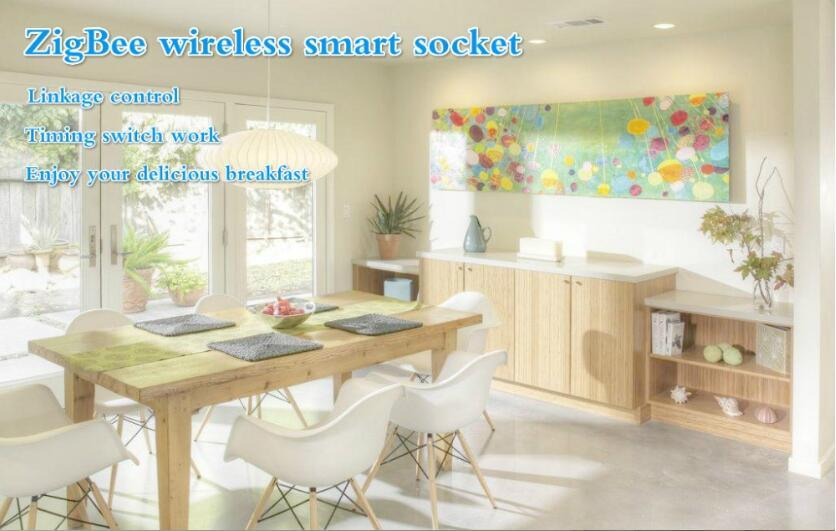 2015 New Design Smart Home Wireless Zigbee Power Socket