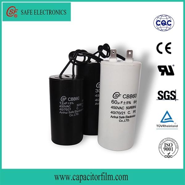 Cbb60 AC Motor Capacitor for Water Pump Used