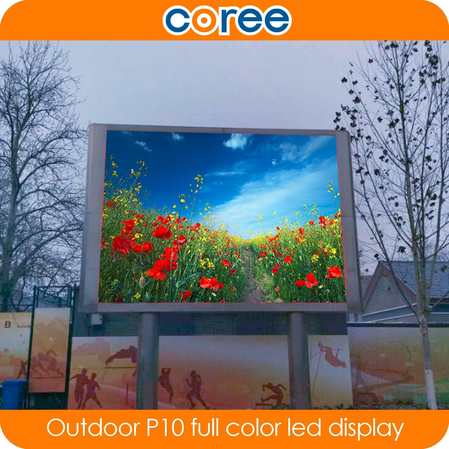 Outdoor High Brightness P10 Full Color LED Display Screen