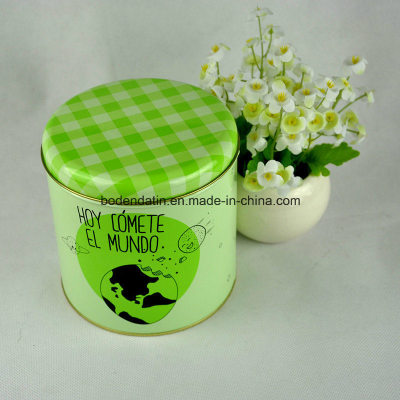 Custom Round Coffee Tin Can with Airtight Lid