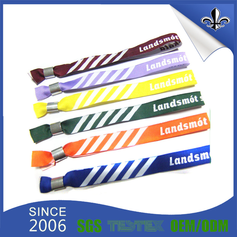 Colorful Custom Design Stripe Wristband Fashion Jewelry for Events