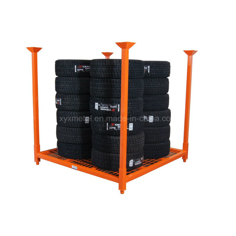Stacking Tire Rack with Wire Mesh Decking for Passenger & Light Truck Tires