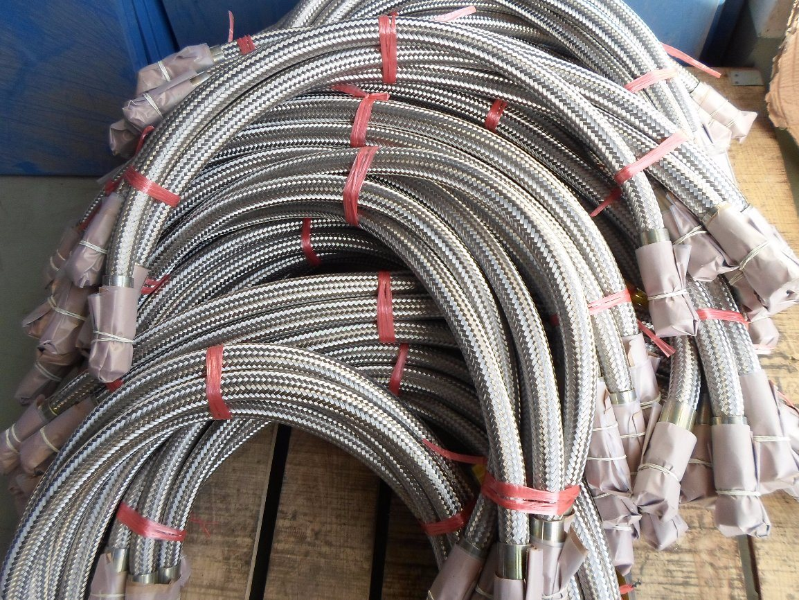 Screwed Joint Stainless Steel Bellows Metal Flexible Hose (304 316L)