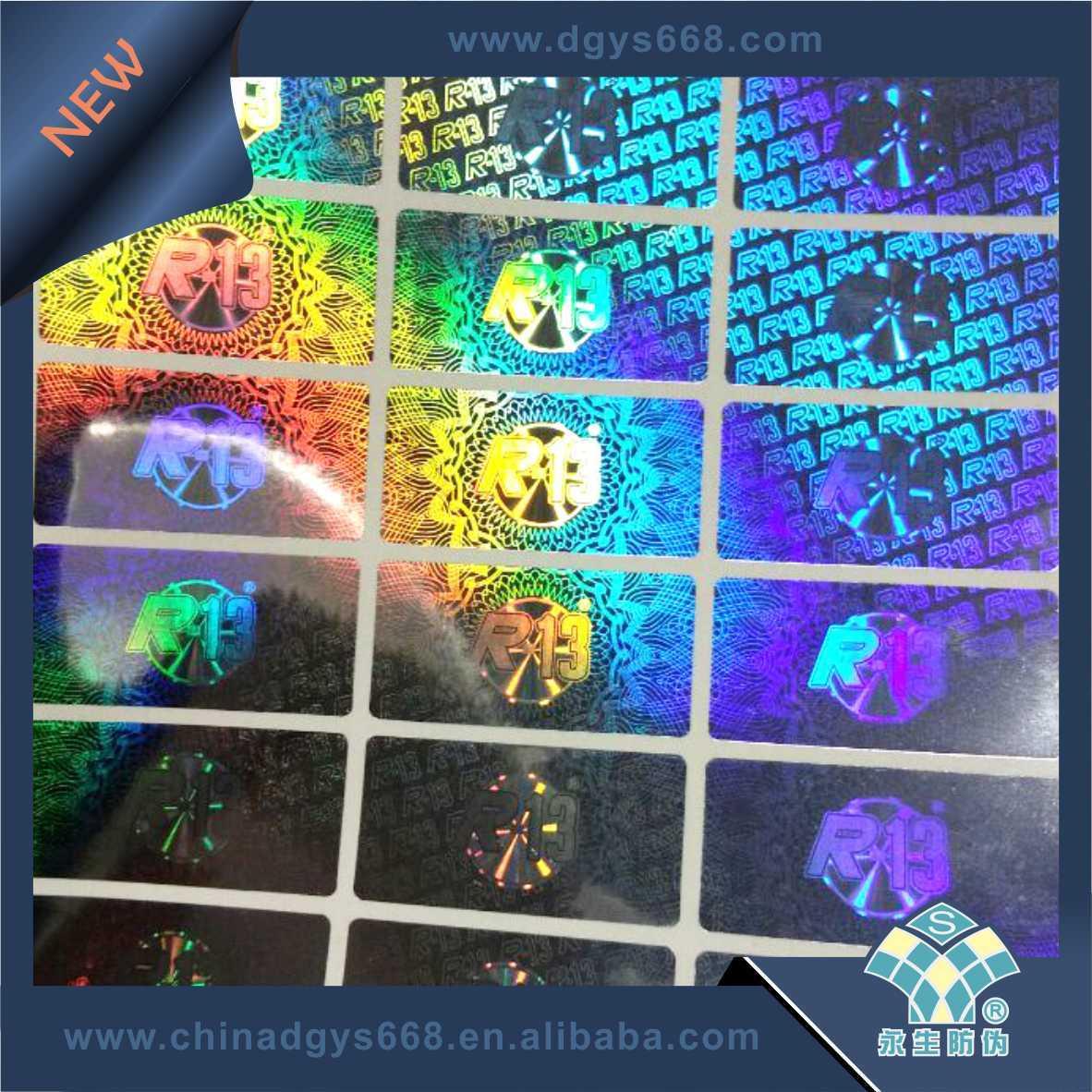 Custom High Quality 3D Hologram Sticker