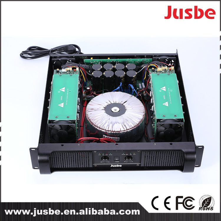 Jusbe Xf-Ca12 Class H 800-1200 Watts Big Power DJ Audio Professional Loudspeaker Amplifier for PA Sound System
