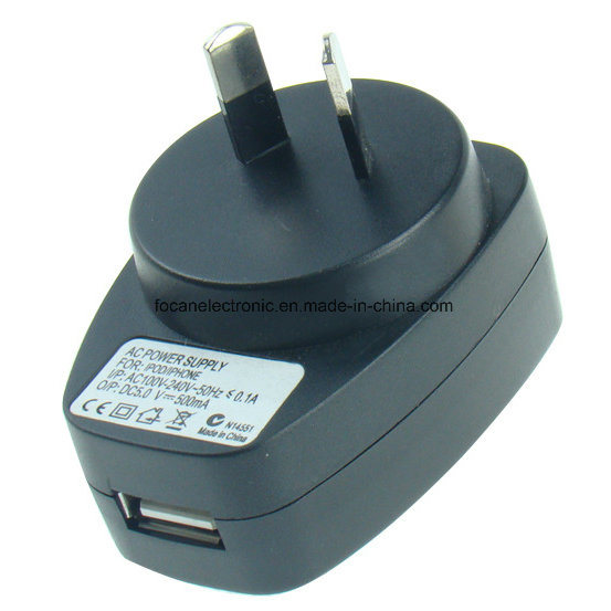 Meps C-Tick SAA Certificate Au Plug USB DC/AC Adapter for Samsung and iPad