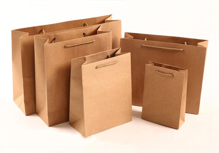 Custom Kraft Paper Gift Shopping Bag with Handles