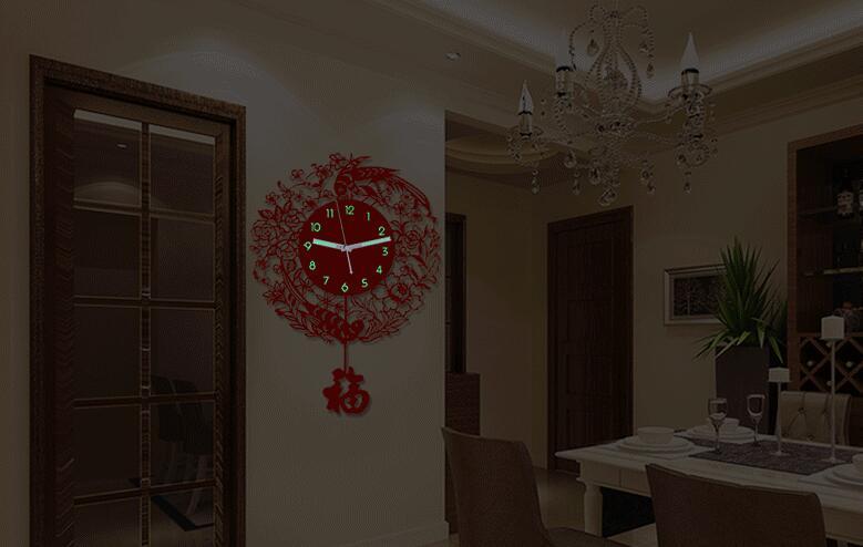 China Gift Clock Acrylic Fashion Wall Clock Display
