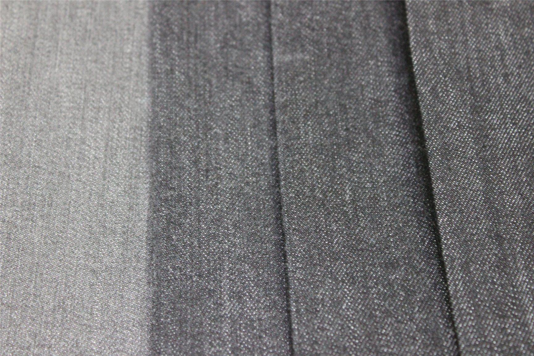 Cotton Polyester Rayon Black Denim