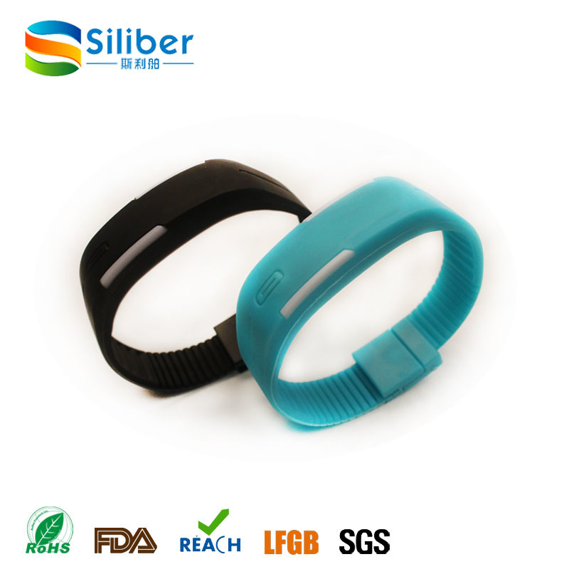 Custom Logo Fashion Silicone LED Watch, Silicone Wristband Watch