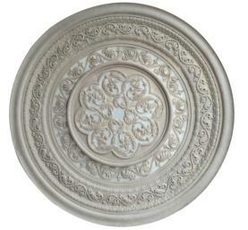 Europe Style Sandstone Sculpture Fireplace Circular Plate for Home Decorations