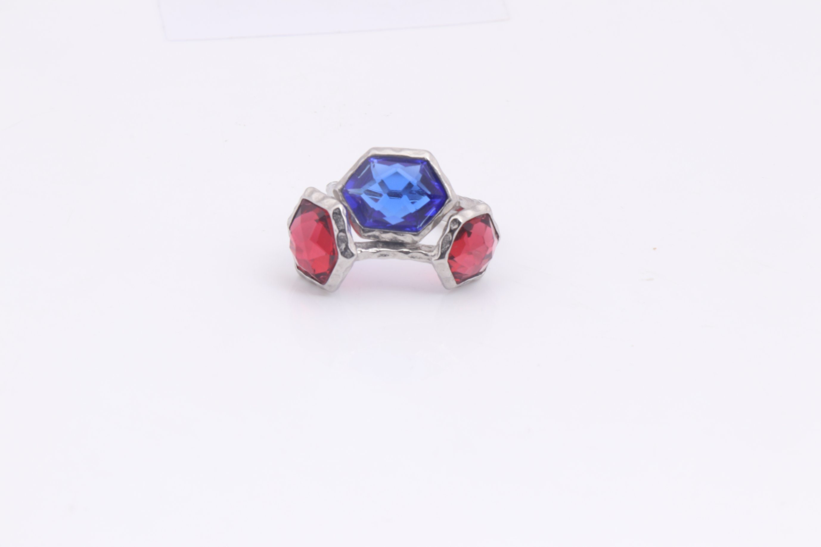 Luxury Latest Wedding Heart Shaped Ring with Red CZ