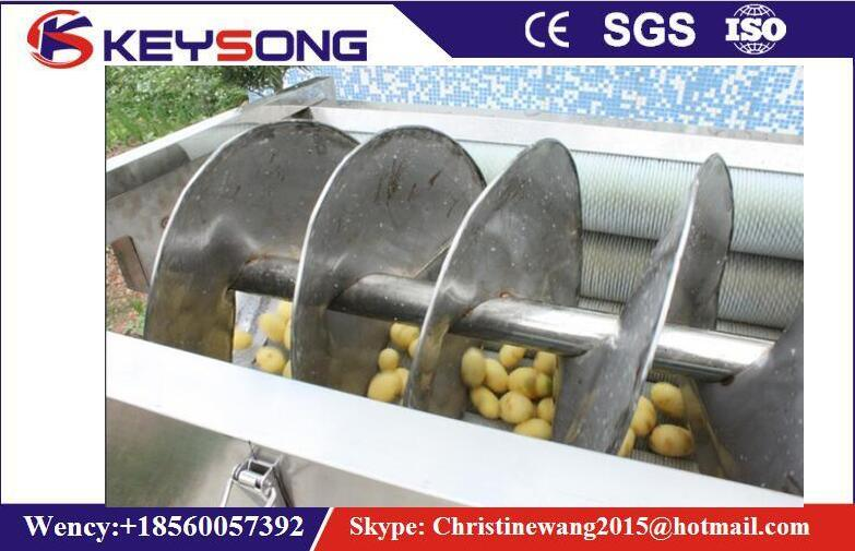 Full Automatic Potato Chips Washing and Peeling Machine