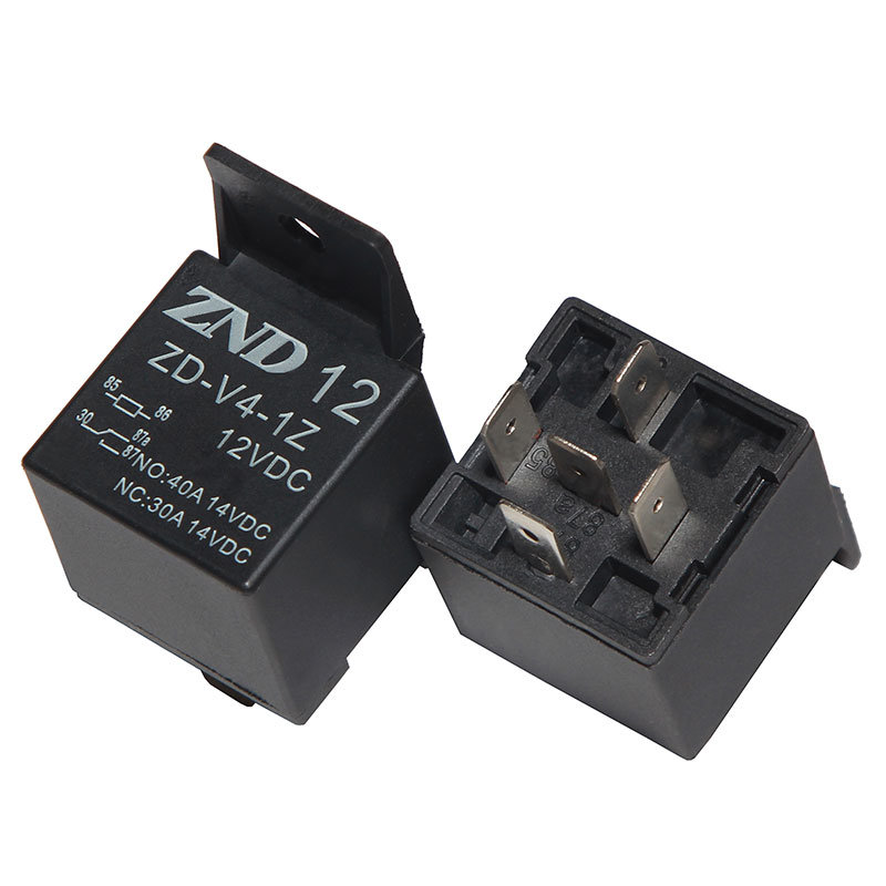 5 Pins Black Cover Automotive Relay 40A 12V 1z Auto Parts