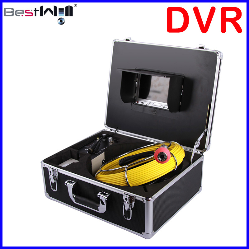 Waterproof 23mm Pipe Inspection Camera CR110-7D1 with 7′′ Digital LCD Screen & DVR Video Recording with 20m to 100m Fiberglass Cable