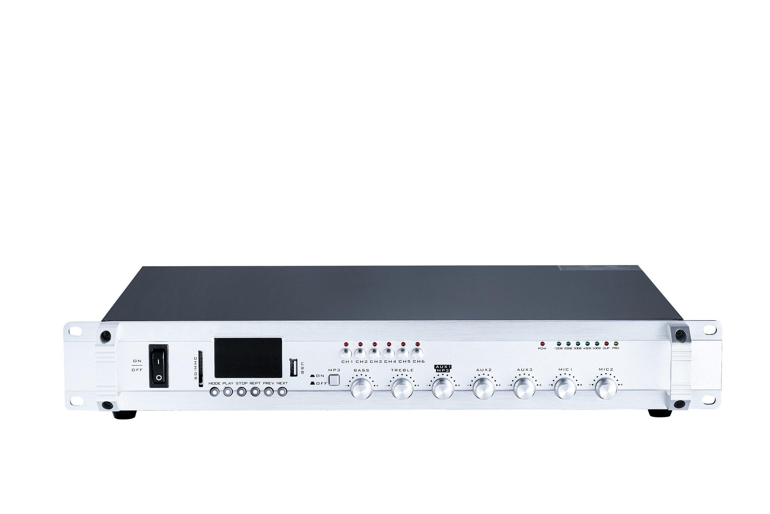 Public Address Mixer Amplifier with USB, SD, Bluetooth, Tuner Se-80u Series