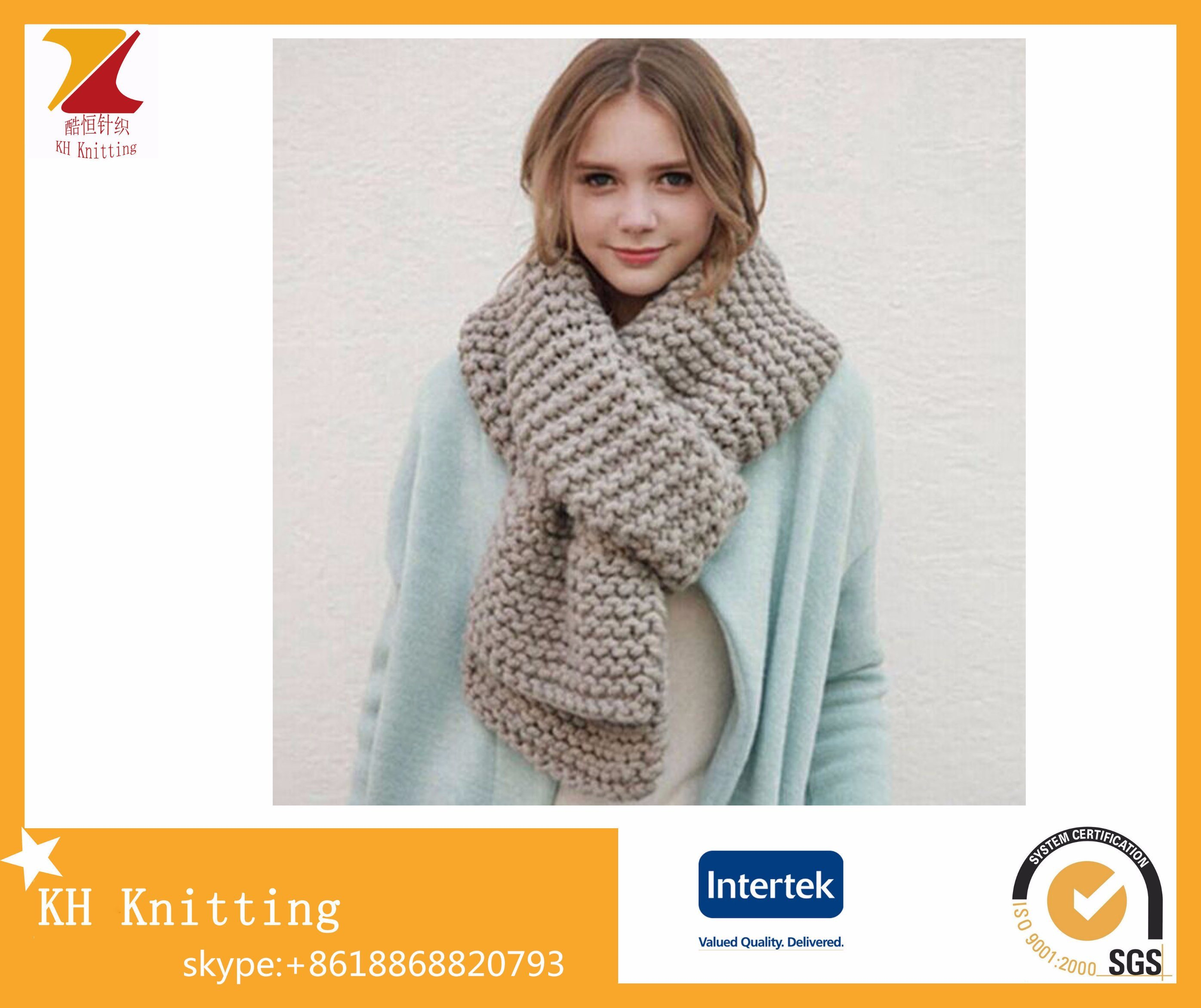 Fashion Knitted Lady Scarf for Promotion