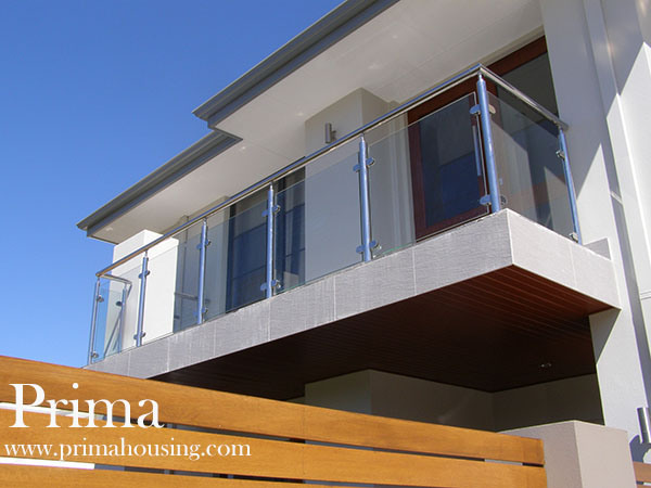 Balustrade De Balcony Stainless Steel Glass Railing system for Terrace