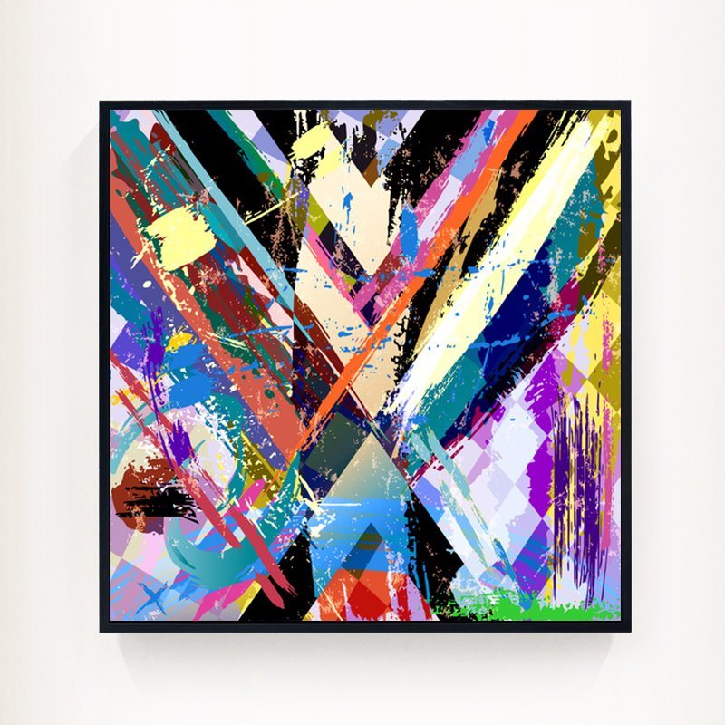 2017 New Design Colorful Modern Abstract Canvas Print