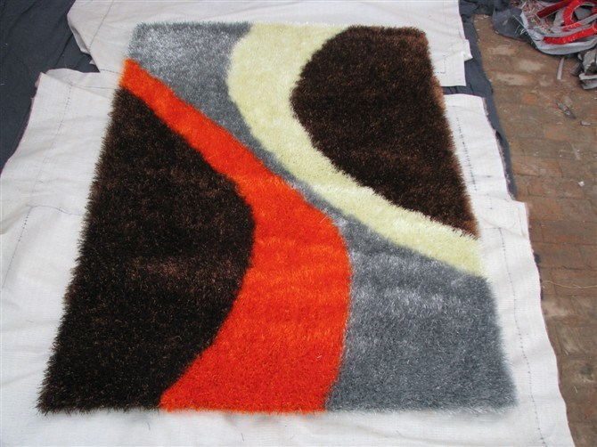The Carpet Tile with Stretch Yarn and Silk 1200d