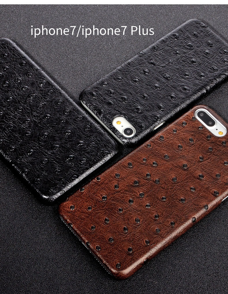 Leather Phone Case iPhone 7 Case Samsung S8 Black Cover