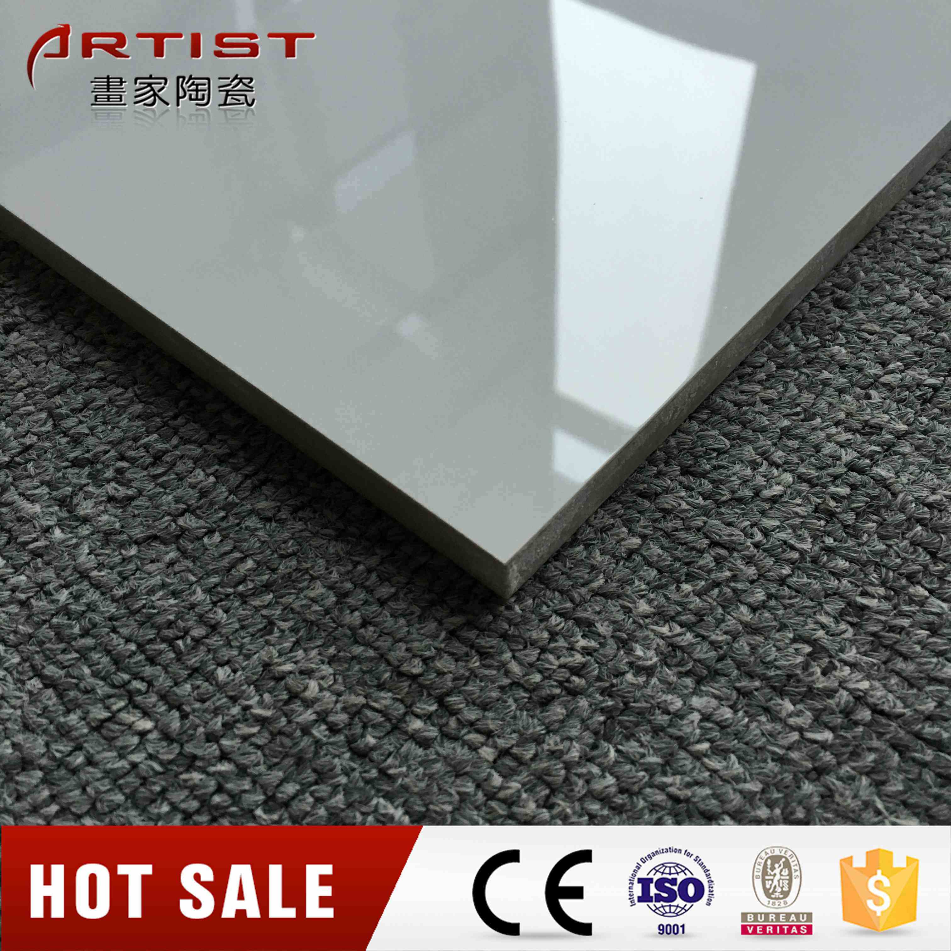 Marble Look 600X600mm, 800X800mm Glazed Polished Porcelain Floor Tiles