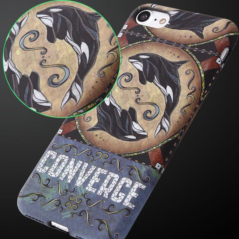 Cartoon Embossed with Light Mobile Phone Accessory Soft Case for iPhone 7/ 7 Plus