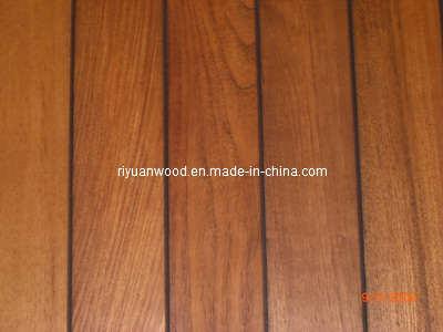 China rubber injected flooring teak flooring t 05 for Rubber hardwood flooring