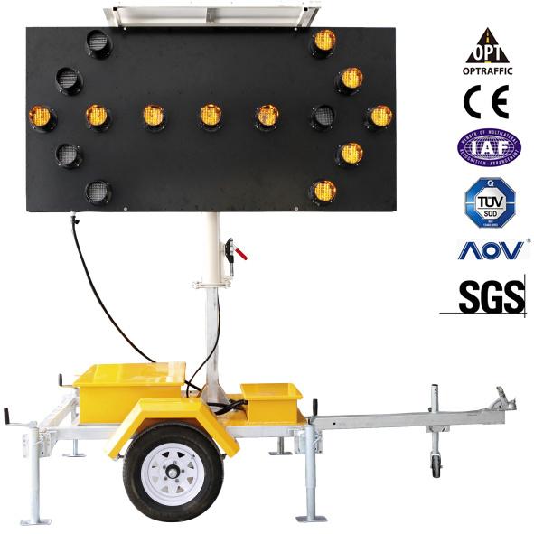 Solar Powered Portable Traffic Control Flashing LED Arrow Boards