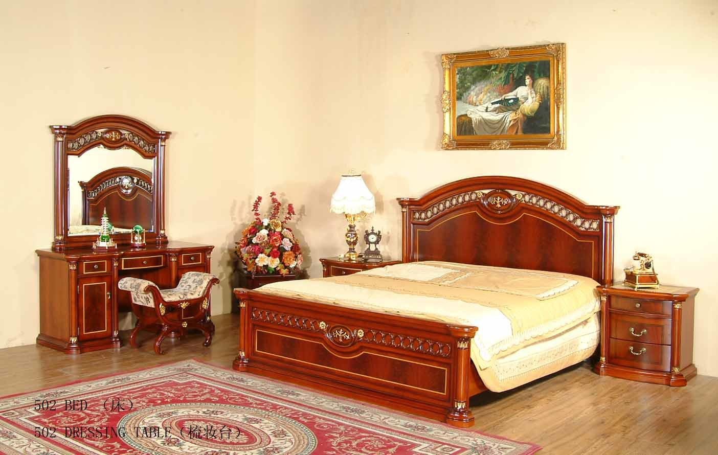 Bedroom Furniture Bedroom Set Rococo Pc Italian Classic Beige Bedroom