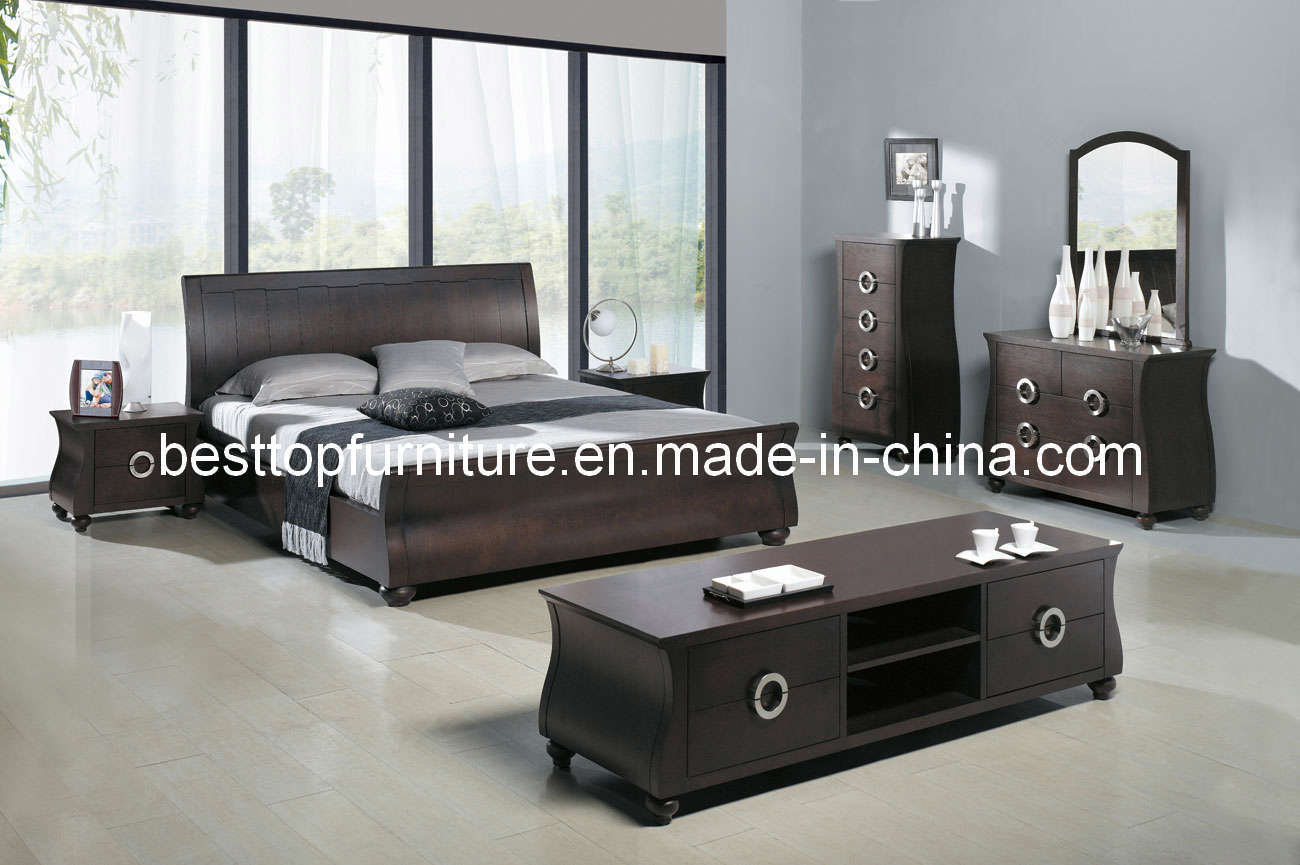 Oak Veneer Bedroom Furniture 8827A China Modern Home Furniture