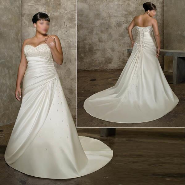 China large size wedding dress for big ladies ls001 for Wedding dresses for big women