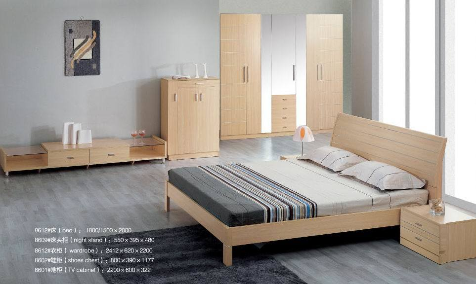 China white beech bedroom furniture 8612 china bedroom for Beech bedroom furniture