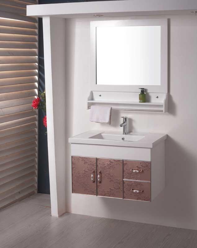 Armário de banheiro do desenho de PVC&Glass (W159) –Armário de banheiro  -> Armario Para Banheiro Pvc