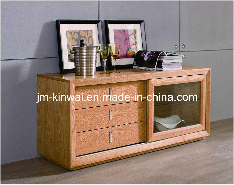 China oak solid wood cabinet living room furniture china for Living room designs with oak furniture