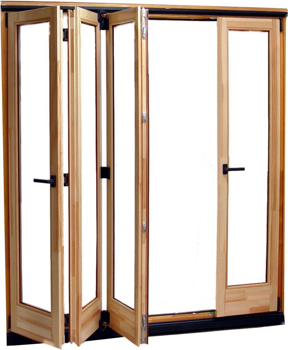 China Solid Oak Wood Aluminium Bifold Glass Doors For Villa Photos Pict