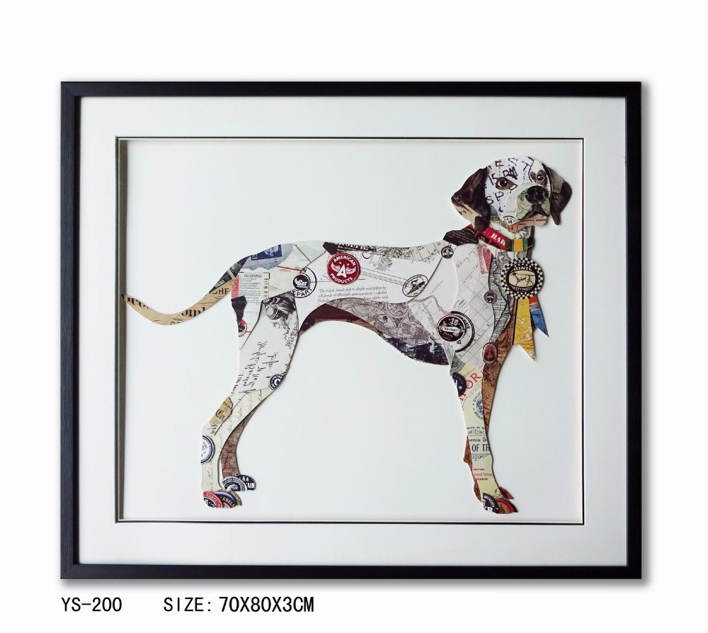 Home Decoration Gifts Dog Animal Wall Hanging Decorative Painting