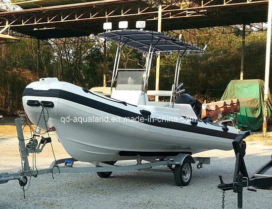 Aqualand 18feet Rigid Inflatable Boat/Rescue Boat/Patrol Boat/Rib Boat (RIB530A)