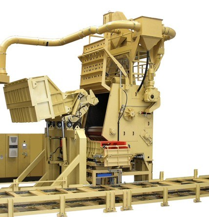 Rubber and Steel Belt Tumble Shot Blasting Machine / Shot Blast Machine with BV, SGS and ISO