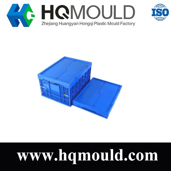 Plastic Blue Logistic Crate Box Injection Molding