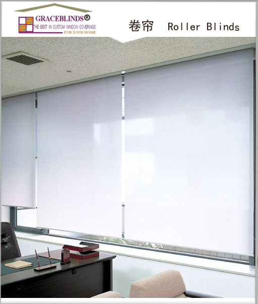 beautiful sunscreen or blackout painting fabric roller blinds