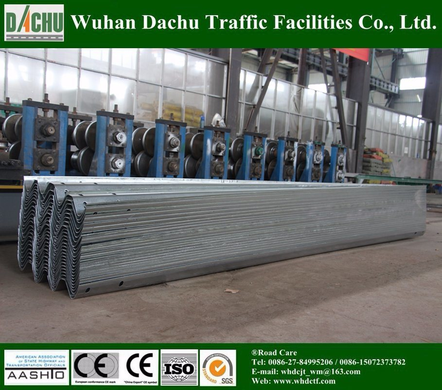 Q235 Galvanized Steel Metal Beam Road Crash Barrier