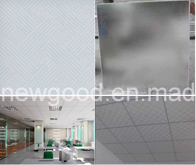 PVC/Vinyl Laminated/Coated Gypsum Ceiling Tile/Board, Standard Paper Faced Gypsum Board/Plaster Board